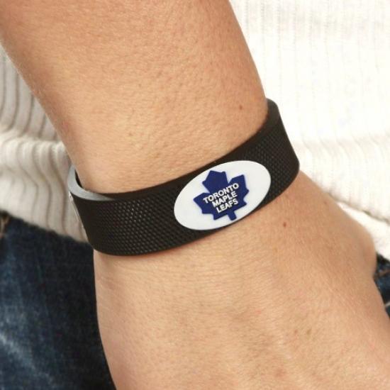 Toronto Maple Leafs Black Hockey Bracelet