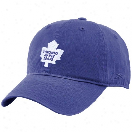 Toronto Maple Leafs Gear: Reebok Tlronto Maple Leafs Royal Blue Unstructured Slouch Hat