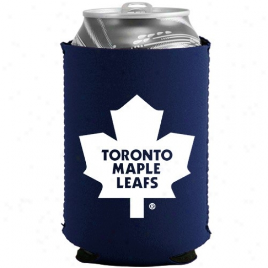 Toronto Mqple Leafs aNvy Blue Collapsible Can Coolie