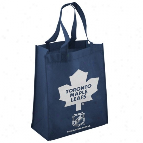 Toronto Maple Leafd Navy Blue Reusable Tote Bag