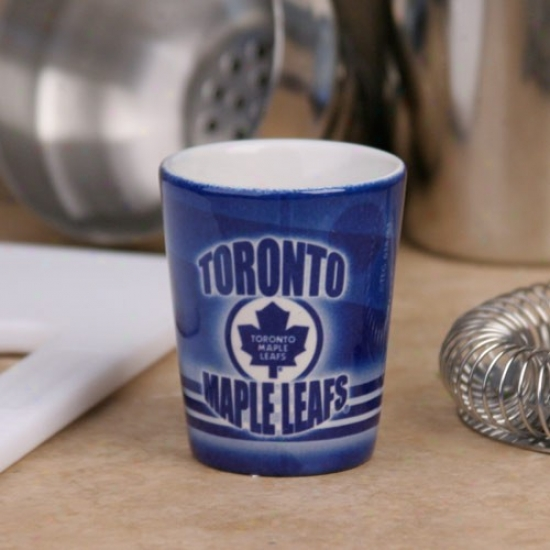Toronto Maple Leafs Ships Blue Slapshot Ceramic Shot Glass