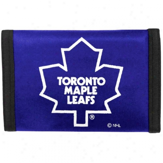 Toronto Maple Leafs Royal Bleu Nylon Trifold Wallet