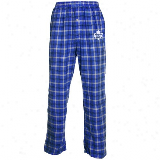 Toronto Maple Leafs Royal Blue Tailgate Pajama Pants