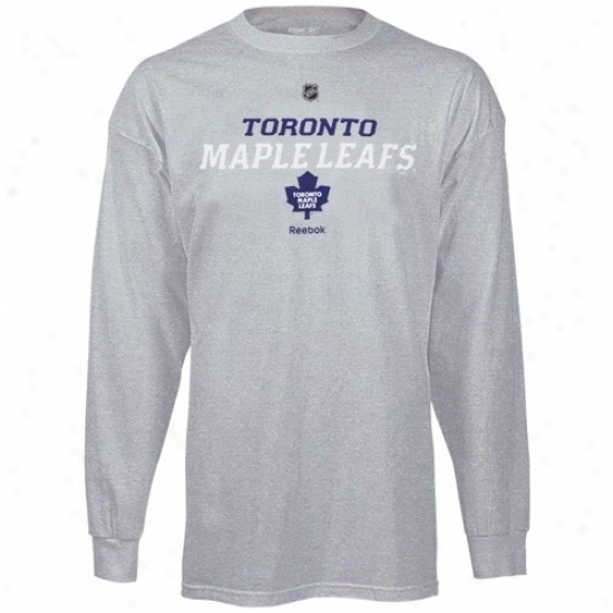 Toronto Maple Leafs Shirt : Reebok Toronto Maple Leafs Ash Team Speedy Long Sleeve Shirt