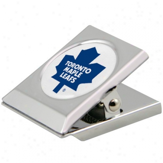 Toronto Maple Leafs Silver Heavy-duty Magnetic Chi0 Clip