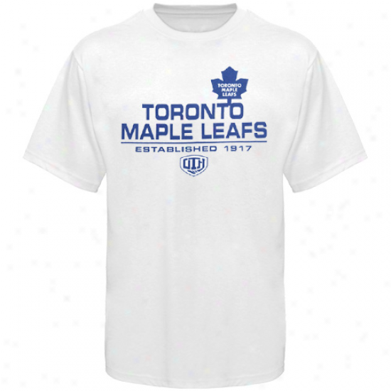 Toronto Maple Leafs T-shirt : Old Time Hockey Toronto Maple Leafs White Zeno T-shirt