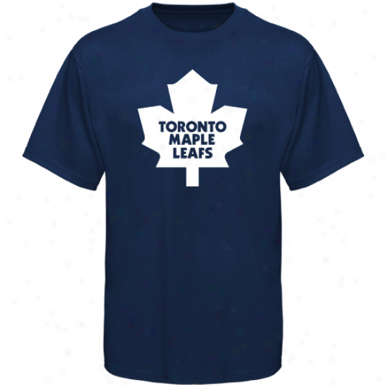 Toronto Maple Leafs T-shirt : Old Time Hockey Toronto Maple Leafs Navy Blue Big Logo T-shirt