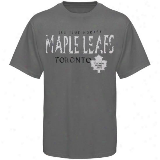 Toronto Maple Leafs Tee : Old Time Hockey Toronto Maple Leas Charcoal St. Croix Tee