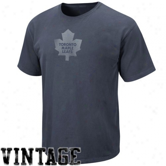 Toronto Maple Leafs Tees : Majestic Toronto Maple Leafs Navy Blue Cooperstown Big Time Play Vintage Tees