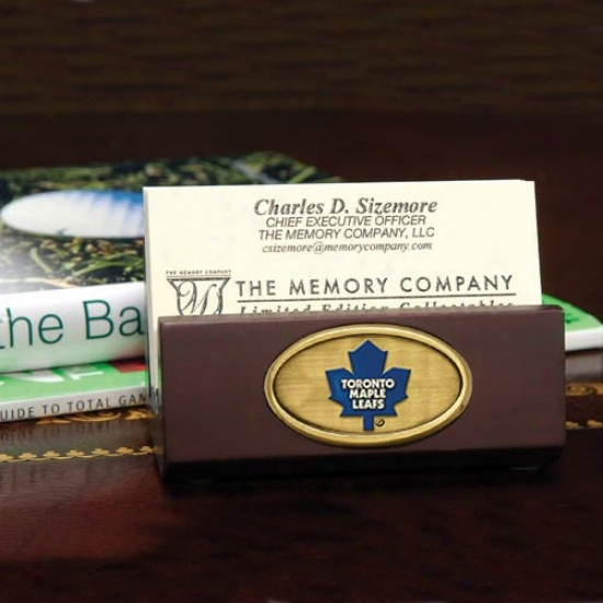 Torontoo Maple Leafs Wooden Business Card Owner