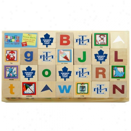 Toronto Maple Leafs Wooden Mascot Alphabet Blocks
