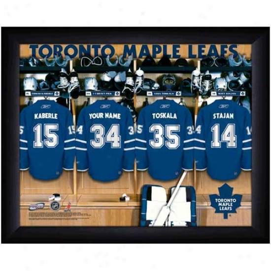 Toronto Maple Leaves Customized Locmer Room Black Framed Photo