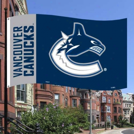 Vancouver Canuck Flags : Vancouver Canuck Grzy-navy Blue Premium 3' X 5' Flags