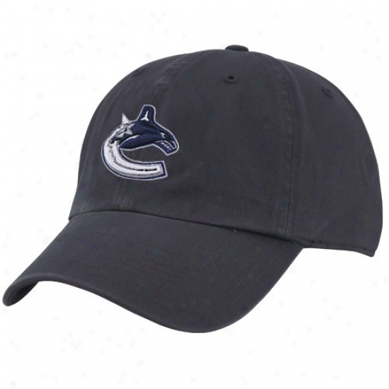 Vancouver Canuck Gear: Twins '47 Vancouver Canuck Navy Blue Cleanup Adjustable Hat