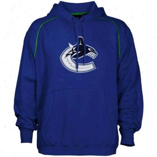 Vancouver Canuck Sweatshirts : Majestic Vancouver Canuck Navy Azure Fear And Trembling Sweatshirts