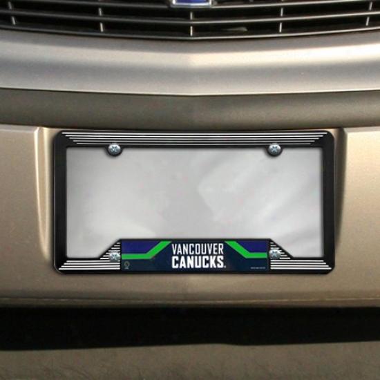 Vancouver Canucks Black Soft License Plate Frame