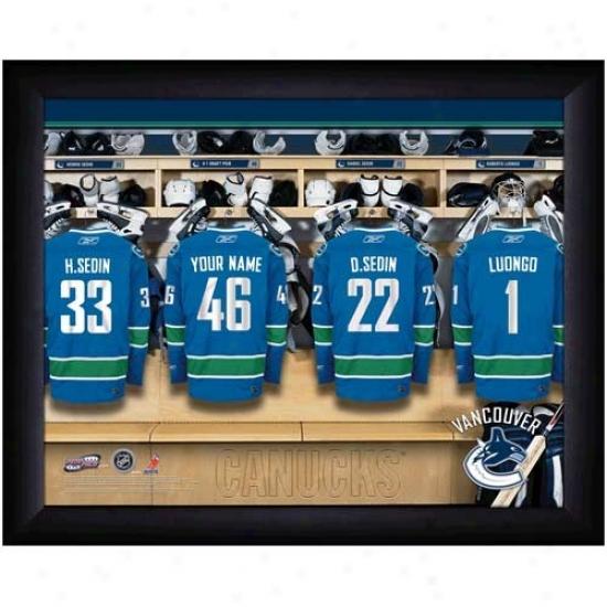 Vancouver Canucks Customized Locker Room Black Framed Photo