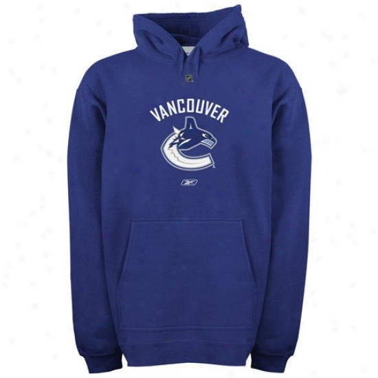 Vancouver Canucks Hoody : Reebok Vancouver Canucks Royal Blue Primary Logo Hoody