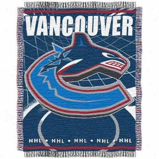 Vancouver Canucks Jacquard Woven Blanket Throw