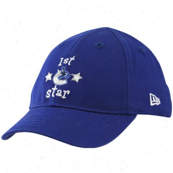 Vancouver Canucks Merchandise: New Era Vancouver Canucks Infant Royal Blue 1st Star Hat