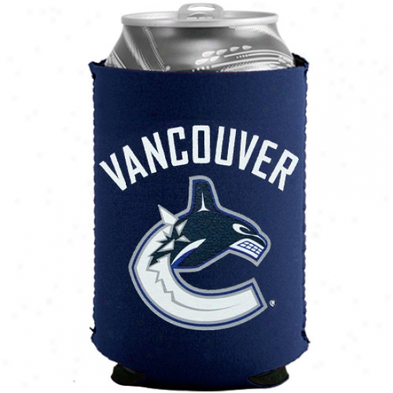 Vancouver Canucks Navy Blue Collapsible Can Coolie