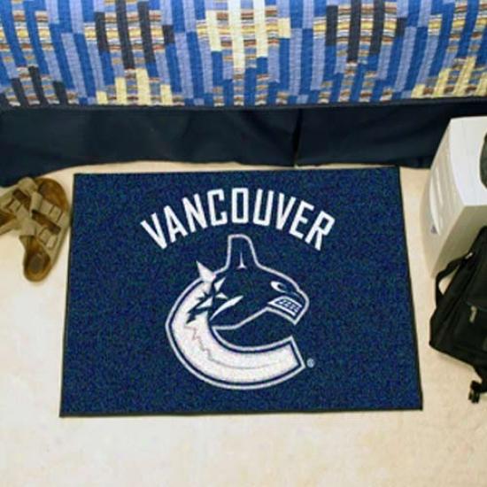 Vancouver Canucks Navy Blue Logo Starter Mat