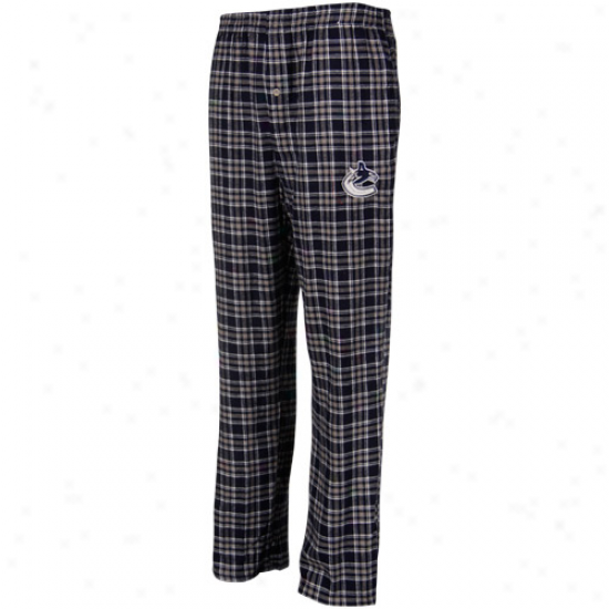 Vancouver Canucks Navy Blue Plaid Match-up Pajama Pants