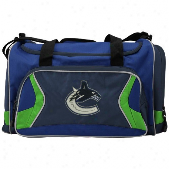 Vancouver Canucks Royal Blue Team Logo Duffle Bag