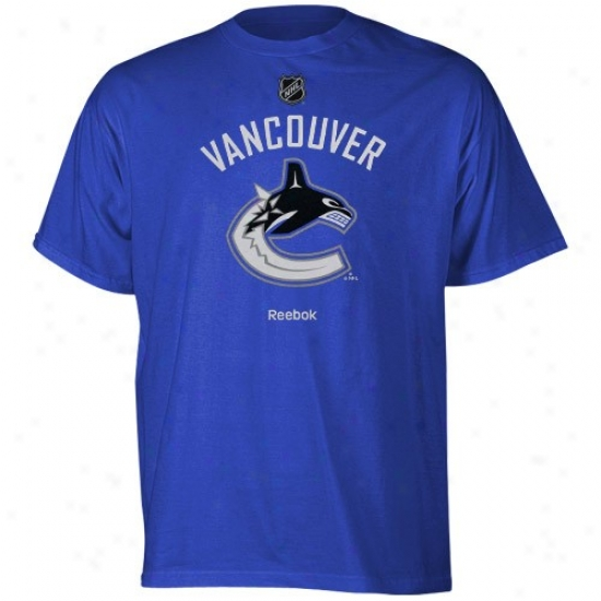Vancouver Cznucks Shirt : Reebok Vancouver Canucks Juvenility Roya Blue Primary Logo Shirt
