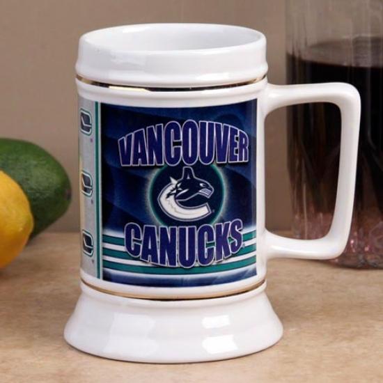 Vancouver Canucks Slapshot 28oz. Ceramic Stein