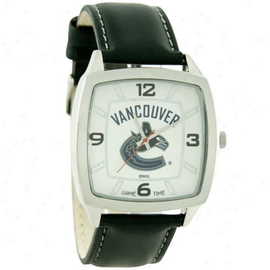 Vancouver Canucks Watch : Vancouver Canucks Retro Watch W/ Leather Band