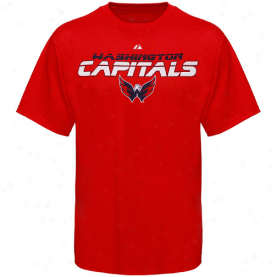 Washington Excellent Apparel: Majestic Washington Capital Red Attack Zone T-shirt