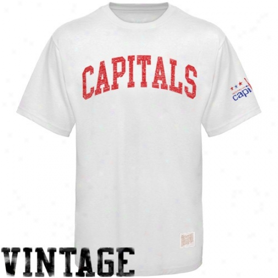 Washington Capital Apparel: Washington Capital White Word Vintage Premium T-shirt