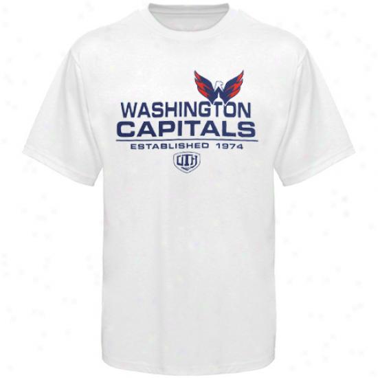 Washington Capital Dress: Old Time Hockey Washington Capital White Zeno T-shirt
