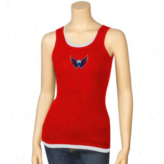 Washington Capital Attire: Washington Capital Ladies Red Harmony Layered Tank Head