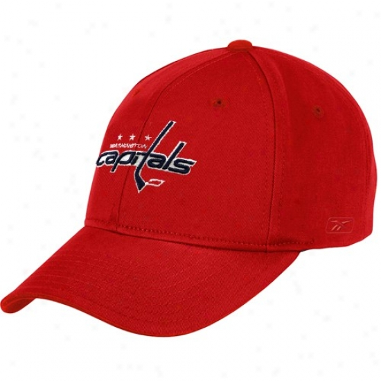 Washington Capita lCaps : Reebok Washington Capital Red Basic Logo Wool Blend Caps