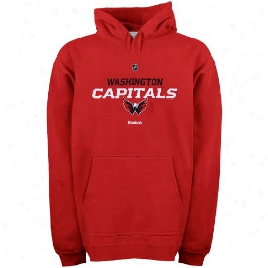 Washington Capital Hoody : Reebok Washington Capital Red Team Speedy Hoody