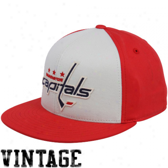 Washington Stock Merchandise: Reebok Washington Capital Red-white Flat Bill Retro Sport 210 Fitted Cardinal's office