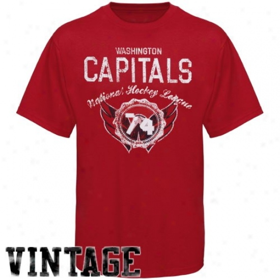 Washington Capital Shlrt : Old Time Hockey Washington Capital Red Morrison Vintage Shirt