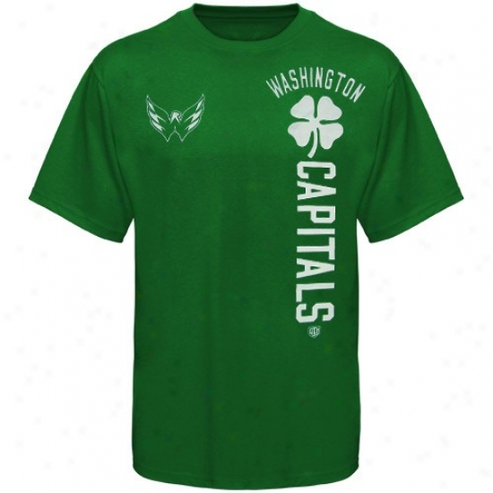 Washington Capital Tee : Ancient Time Hockey Washington Capital Kelly Green Camlin Tee
