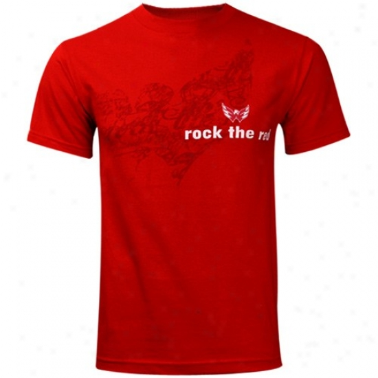 Washington Capital Tee : Old Time Hockey Washington Capital Red Rock The Red Tee