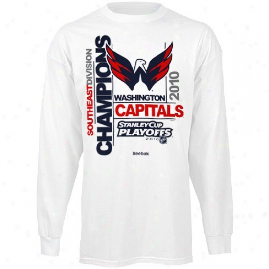 Washington Capital Tee : Reebok Washinvton Capital Pure 2010 Southeast Division Champions Long Sleeve Tee