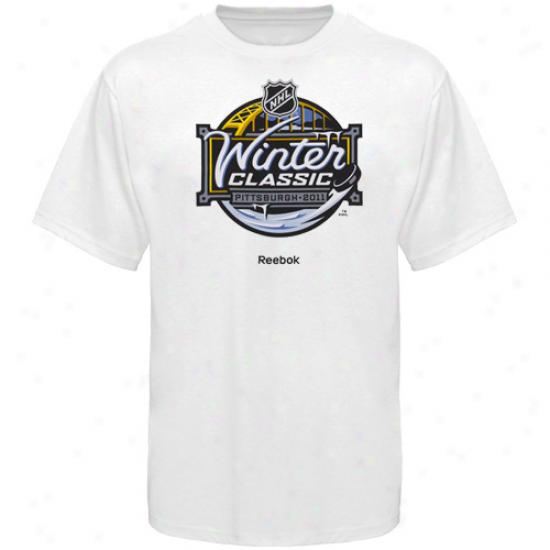 Washington Fatal Tshirts : Reebok White 2011 Winter Classic Tshirts