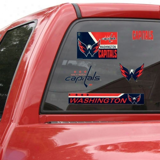Washington Capitals 11'' X 17'' Window Clings Sheet