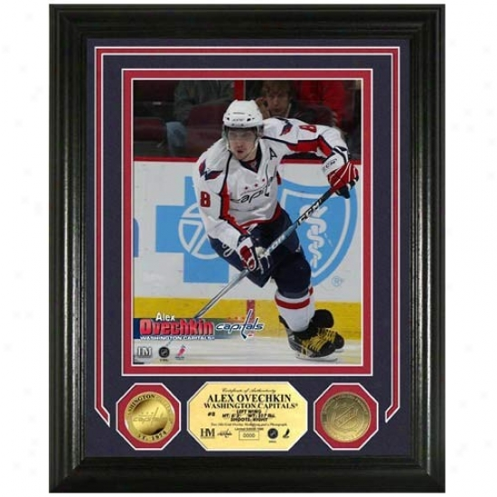 Washington Capitals Alexander Ovechkin Photo Mint W/ Two 24kt Gold Coins