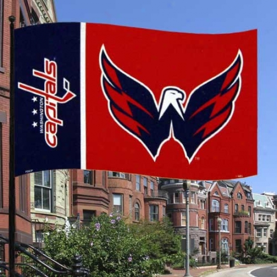 Washungton Capitals Flag : Washington Capitals Navy Blue-red Premium 3' X 5' Banner