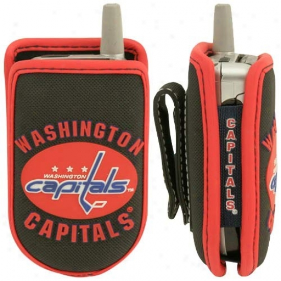 Washington Capitals Black Game Wear Hockey Puck Cell Phone Case