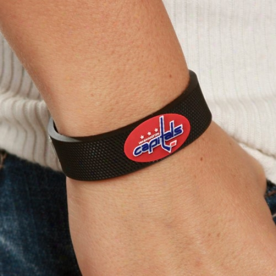 Washington Capitals Black Hockey Bracelet