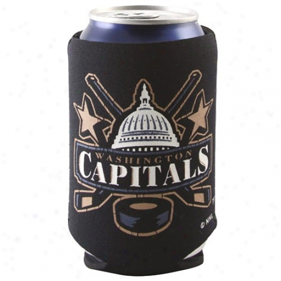 Washinggton Capitals Black Logo Can Coolie