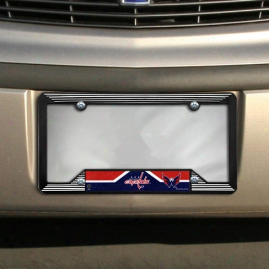 Washington Capitals Black Plastic License Lamina Frame